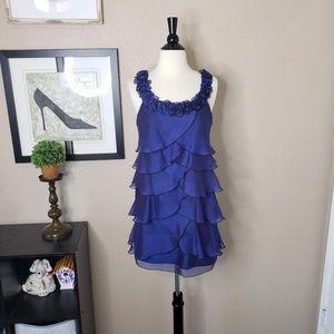 Signature by Robbie Bee ~ Blue Ruffle Dress ~ 4P